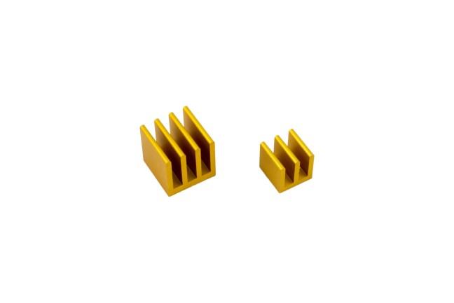 A product image for RaspberryPi Kühlkörper-Kit – Gold