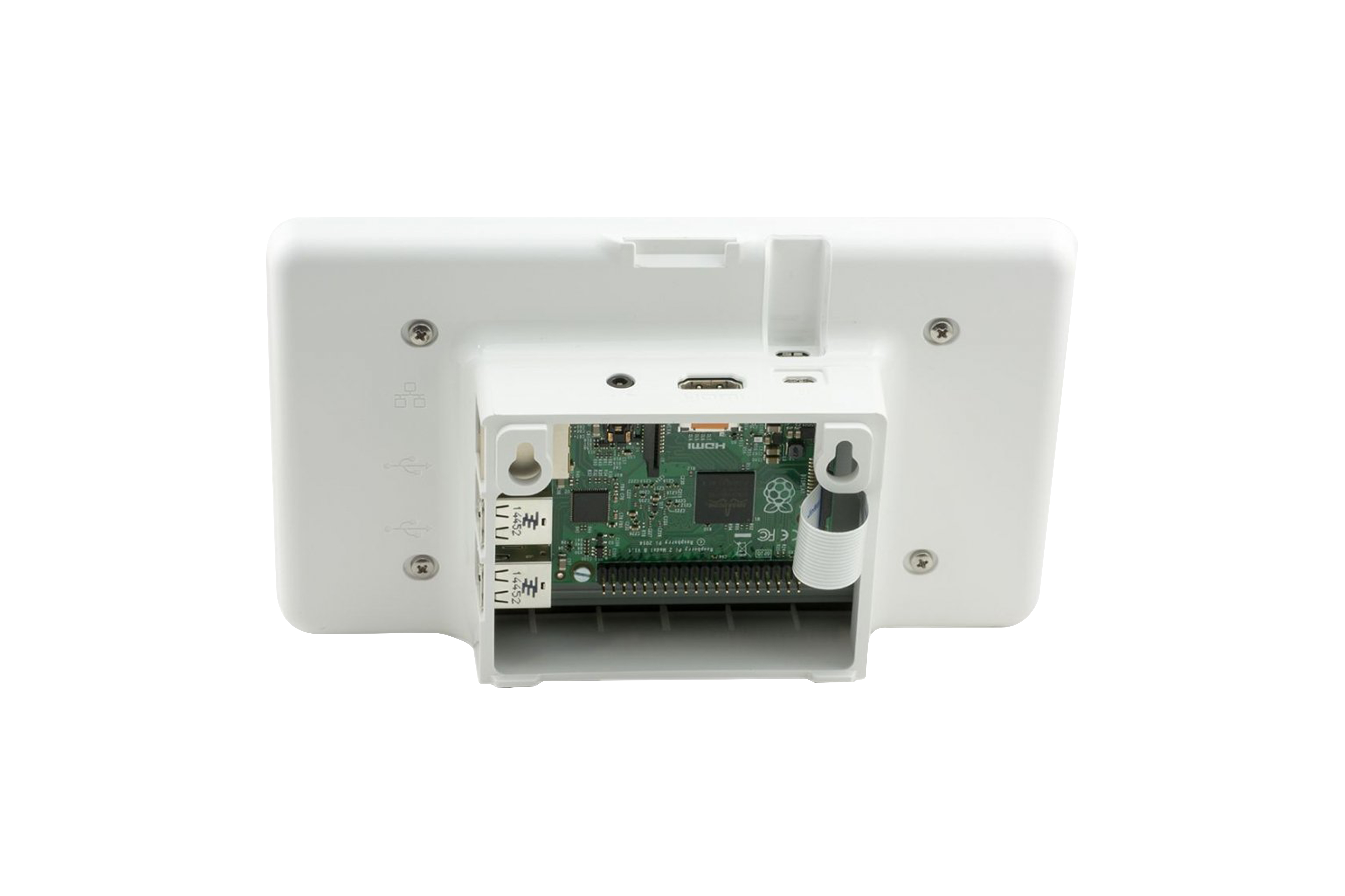 Raspberry Pi Touchscreen-Gehäuse - Weiß