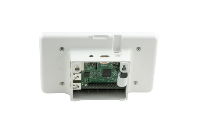 A product image for Raspberry Pi Touchscreen-Gehäuse – Weiß