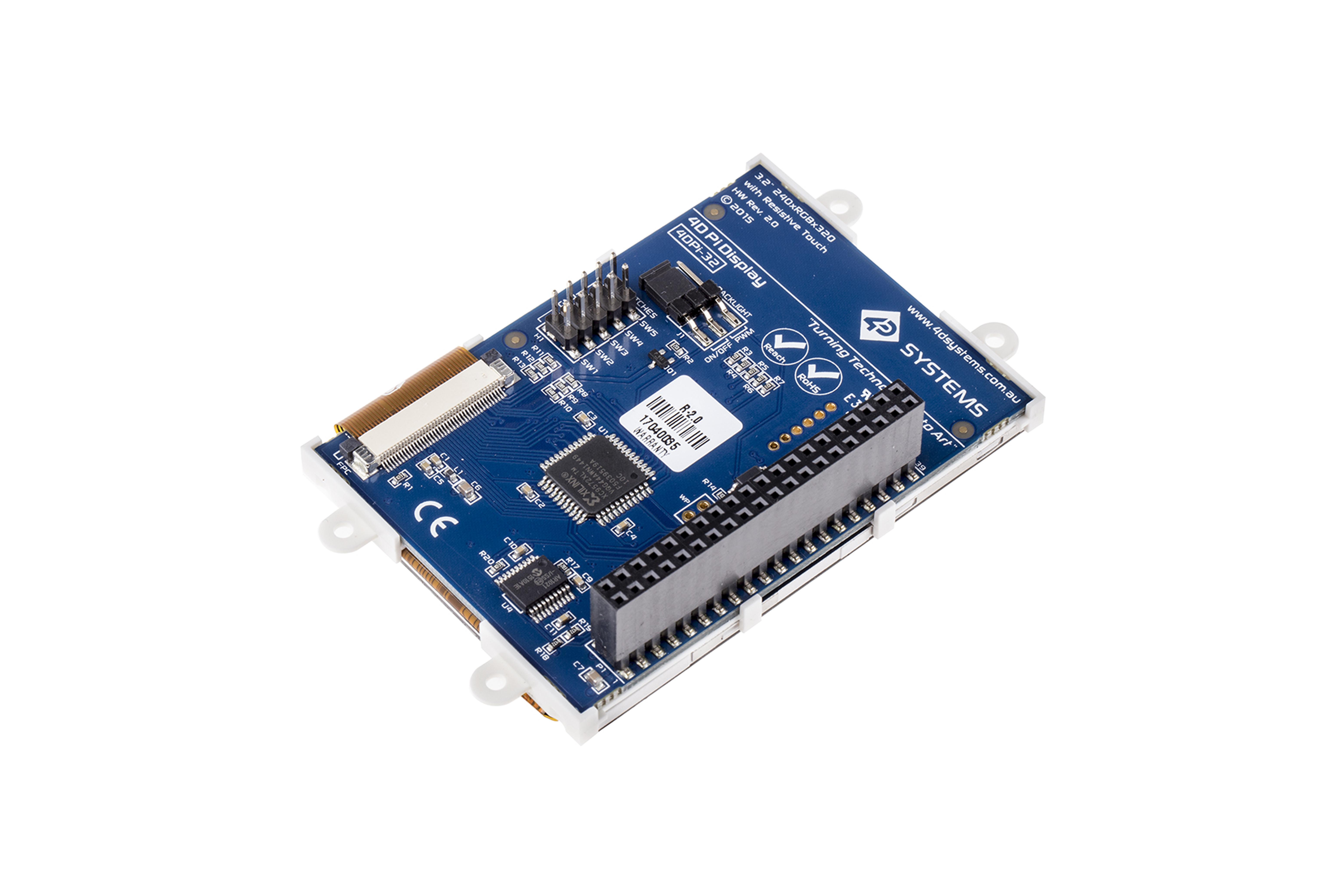 4DPI-32 MK2 LCD-Touchscreen fürRaspberry Pi