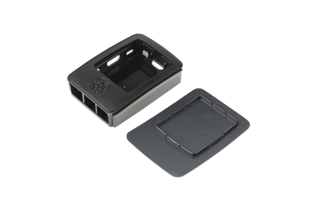 A product image for Offizielles Gehäuse für Pi 3 – schwarz/grau