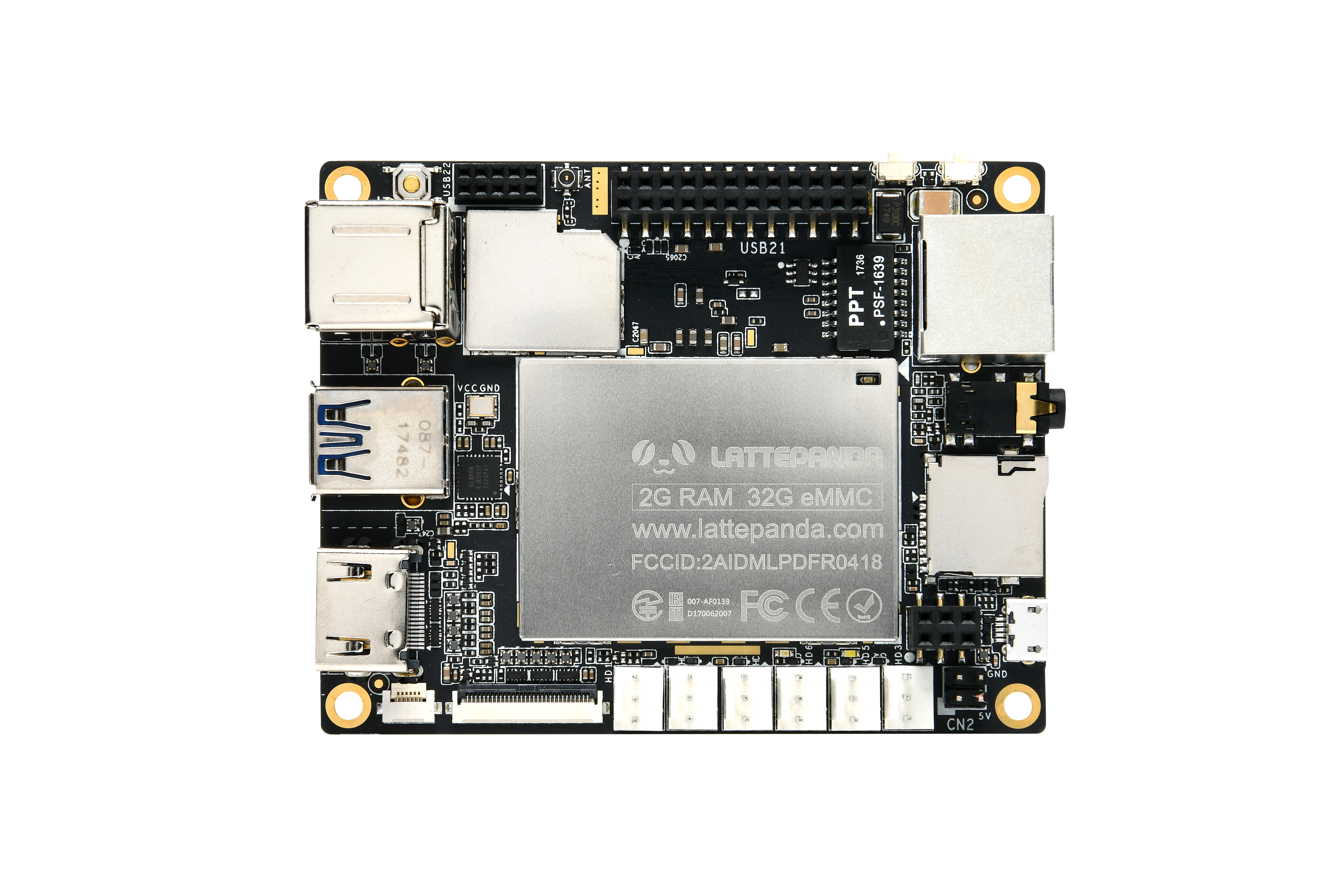 LattePanda 2 GB/32 GB Computer mit Lizenz