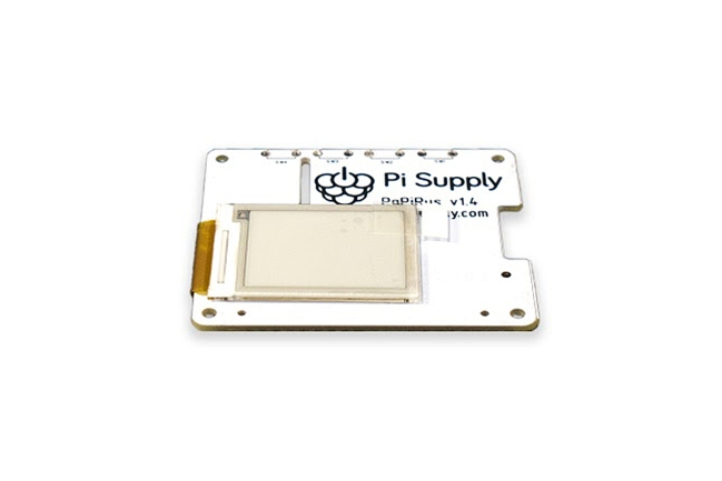 A product image for PAPIRUS EPAPER/EINK DISPLAY HAT- 1.44 ZOLL
