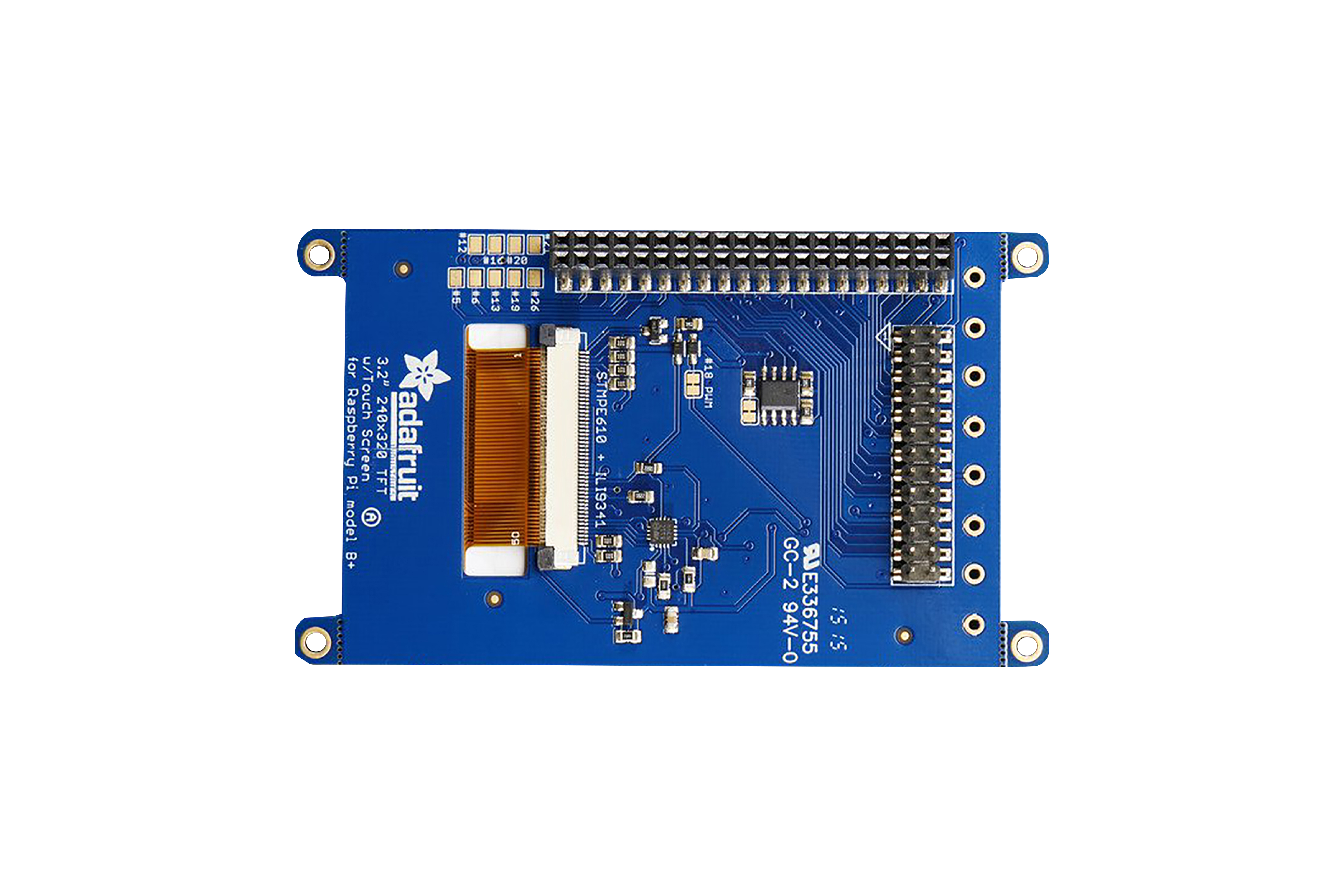 PiTFT Plus 3,2-Zoll-LCD-Touchscreen für Pi