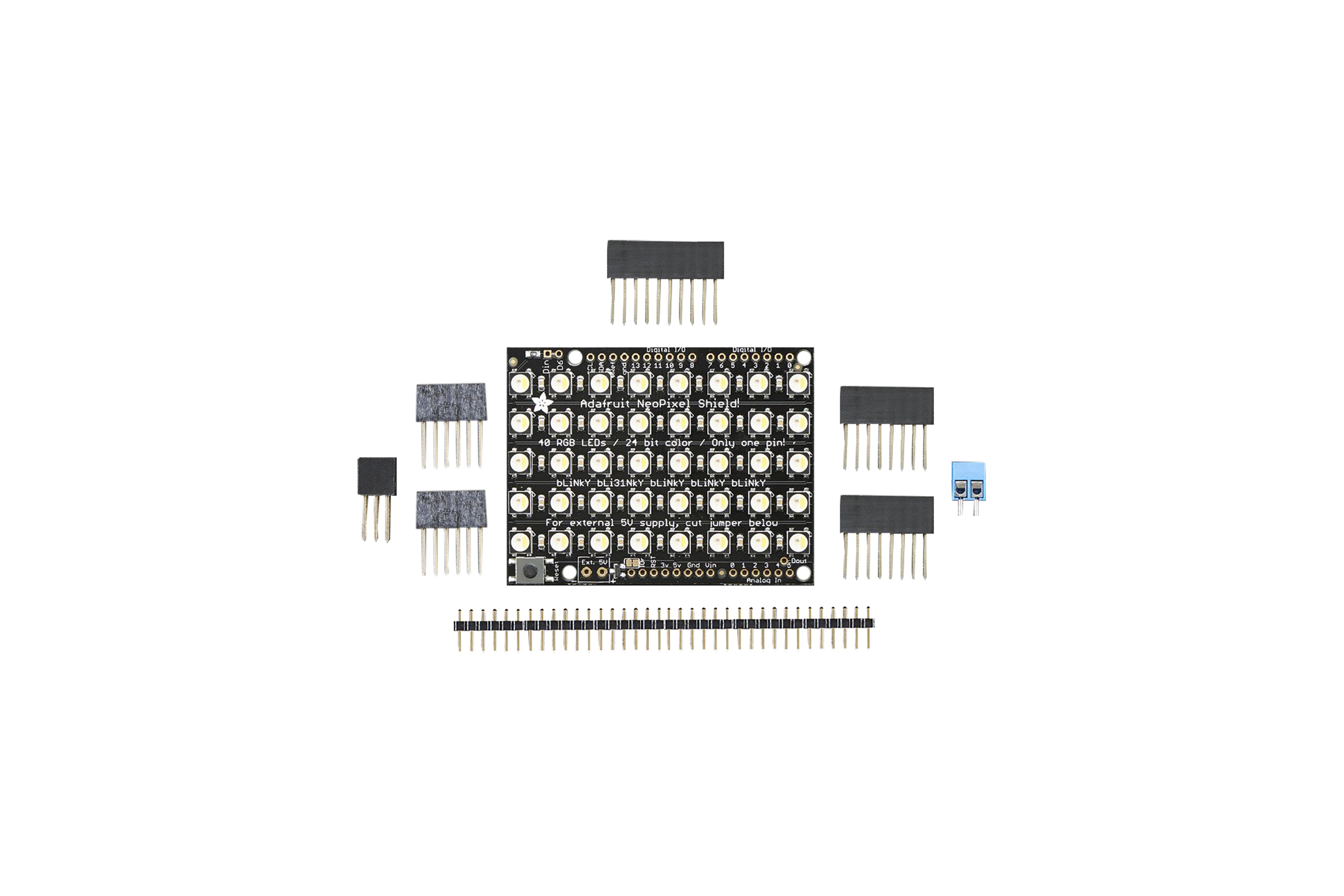 NEOPIXEL SHIELD 40 RGBW LED SHIELD 6000K