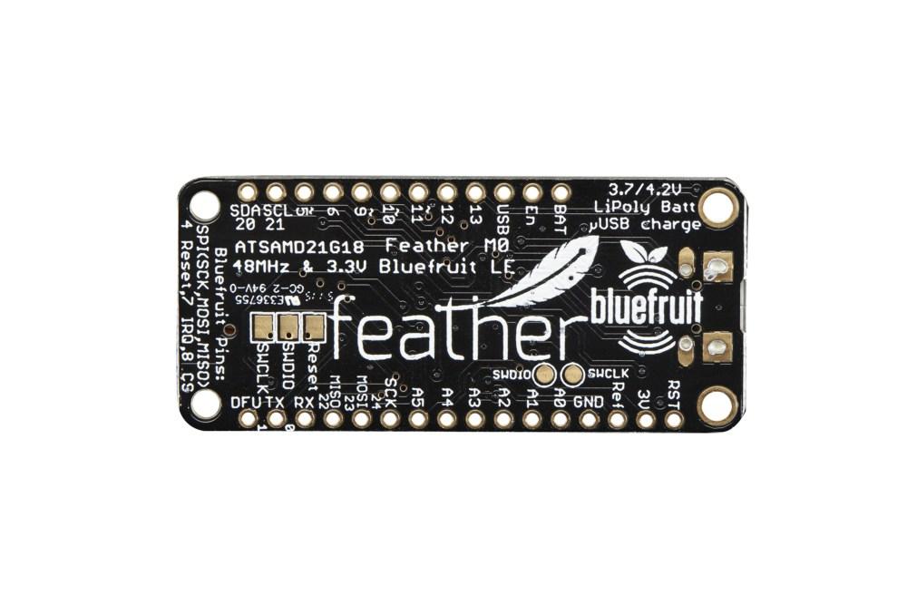 Adafruit Feather M0 Bluefruit LE-Platine