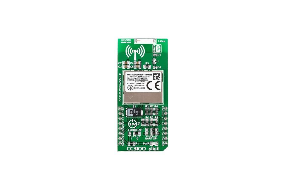 CC3100 WIFI IOTCLICK-PLATINE, MIKROE-2336