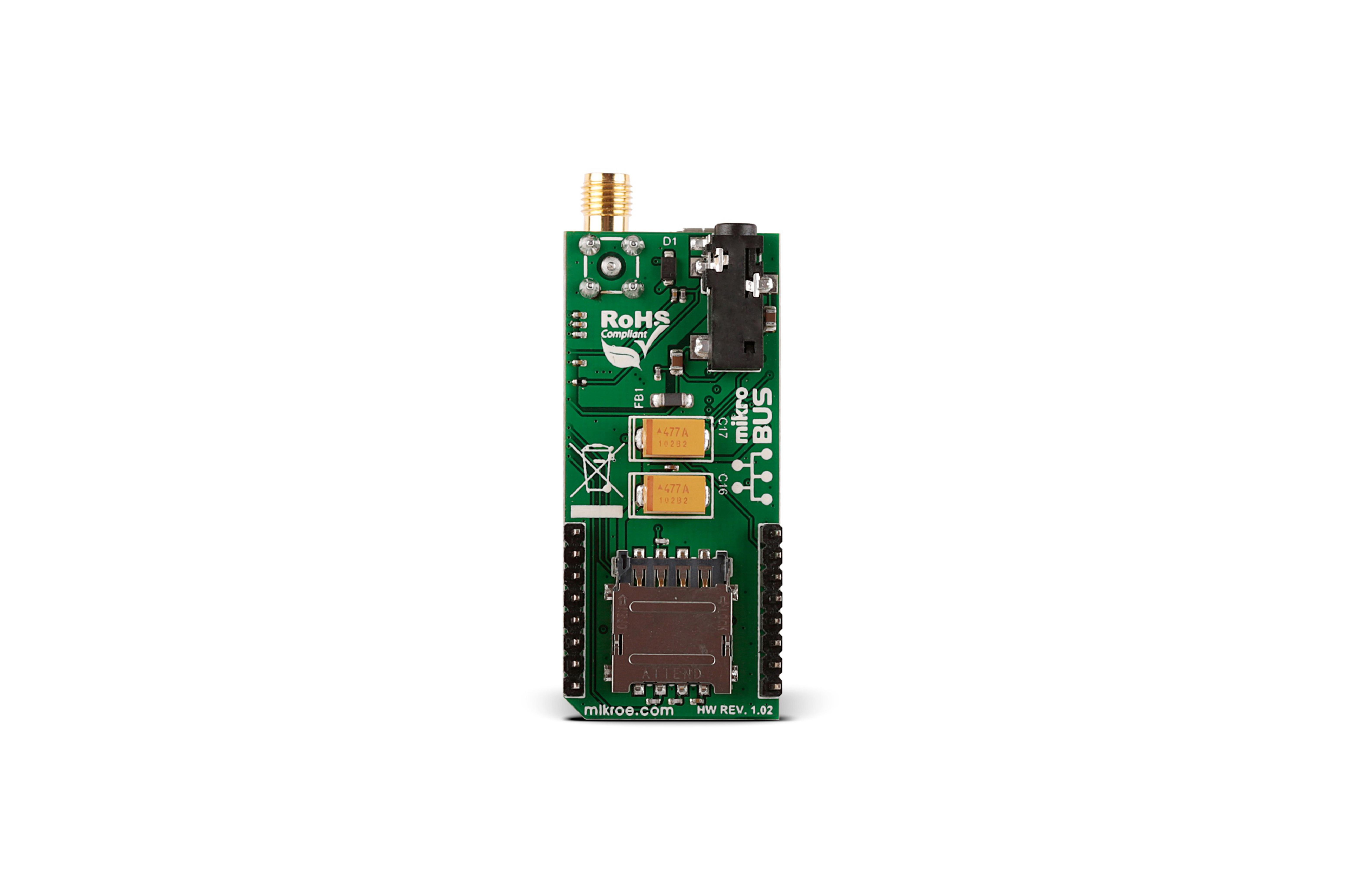 GSM 4 CELLULAR-CLICK-PLATINE, MIKROE-2388