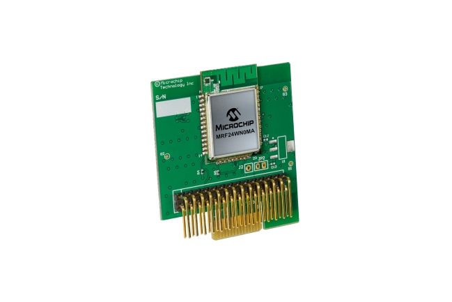 A product image for MRF24WN0MA WiFi PICtail Plus-Platine