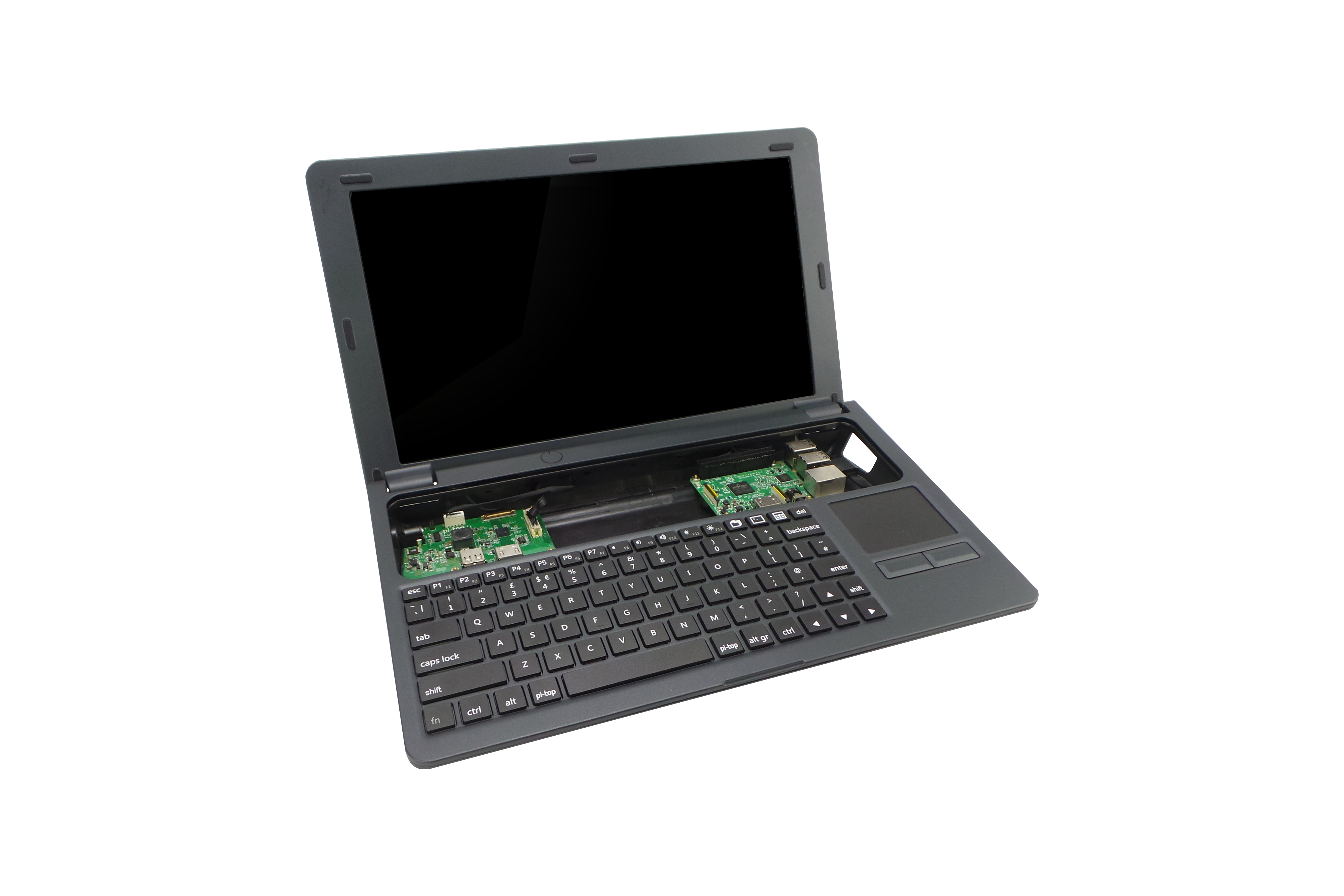UK-Tastatur und Netzteil für Pi-Top - grau