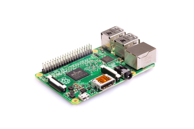 A product image for Raspberry Pi 2, Modell B V1.2
