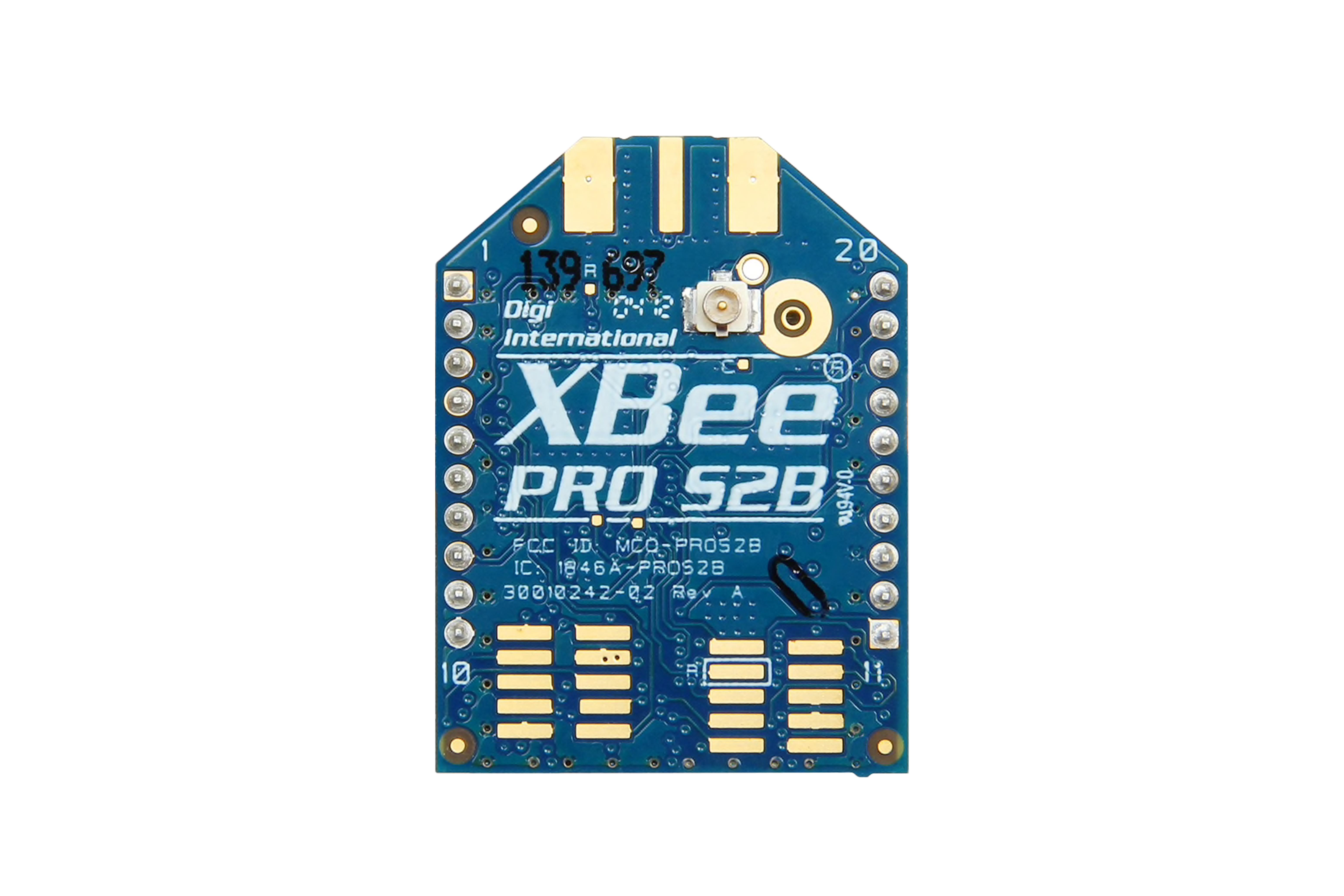 XBee-PRO HF-Modul mit Peitschenantenne 100 mW