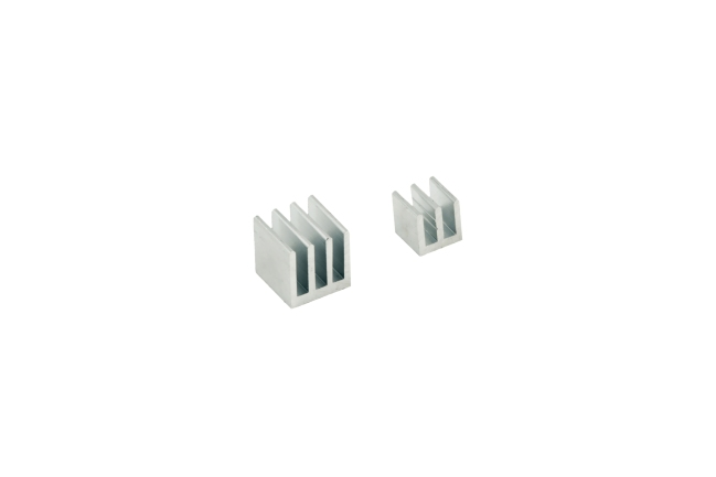 A product image for Raspberry Pi Kühlkörper-Kit – Silber