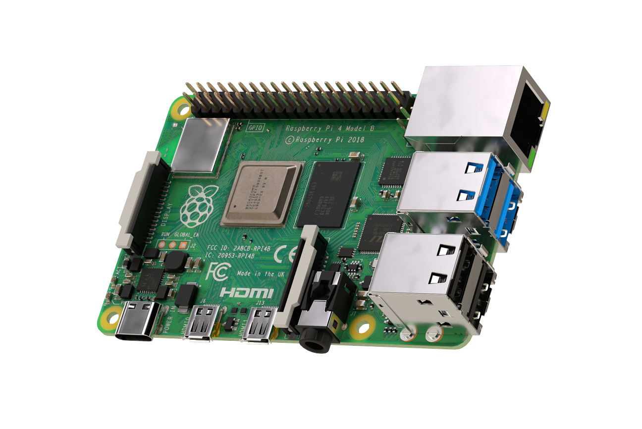 Raspberry Pi 4 Model B Board mit 1GB LPDDR4 SDRAM