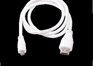 1mRaspberry Pi Micro-HDMIaufStandard-HDMI-Kabel, weiß