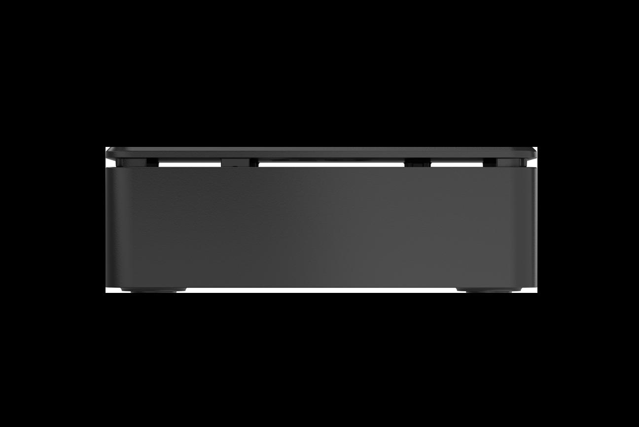 OKdo3-teiliges Standard-Gehäuse in Schwarz