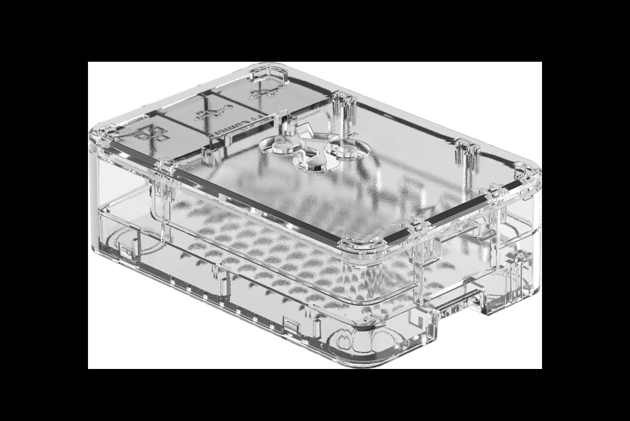 OKdo Durchsichtiges 3-teiliges Standard-Gehäuse