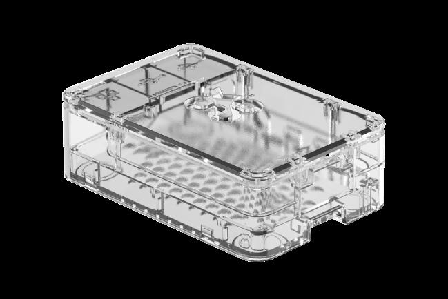 A product image for OKdo Durchsichtiges 3-teiliges Standard-Gehäuse