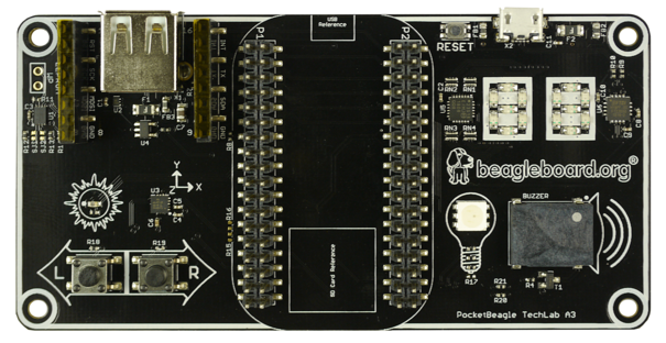 A product image for Pocketbeagle Techlab