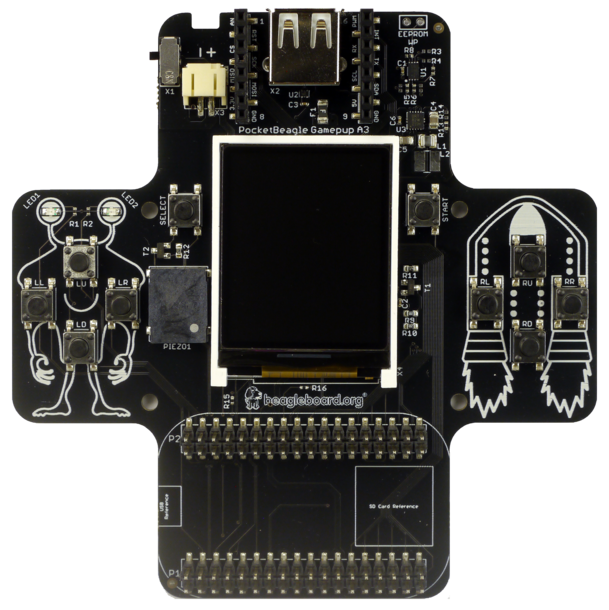A product image for Pocketbeagle Gamepup