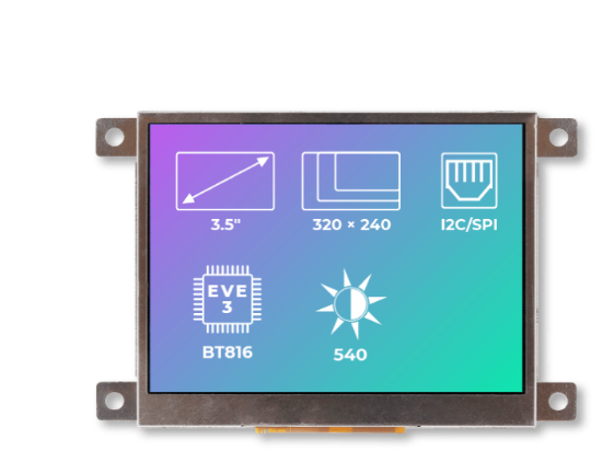 A product image for Riverdi Ritft-35-Fr, 3.5 Inches Tft Display