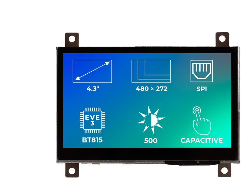 Riverdi Ritft-43-Cap-Fr, 4.3 Inches Tft Display