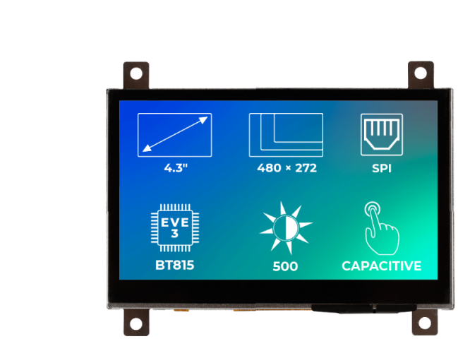 A product image for Riverdi Ritft-43-Cap-Fr, 4.3 Inches Tft Display