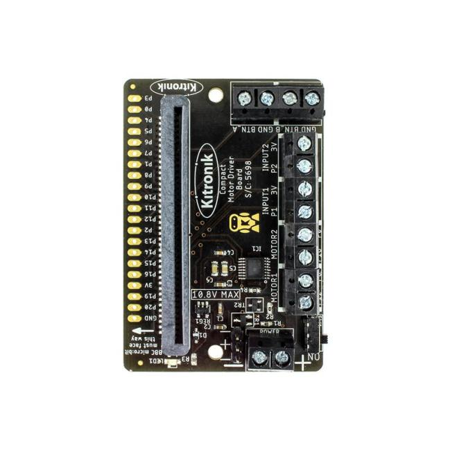 A product image for Kitronik Compact Motor Driver Board for the BBC micro:bit