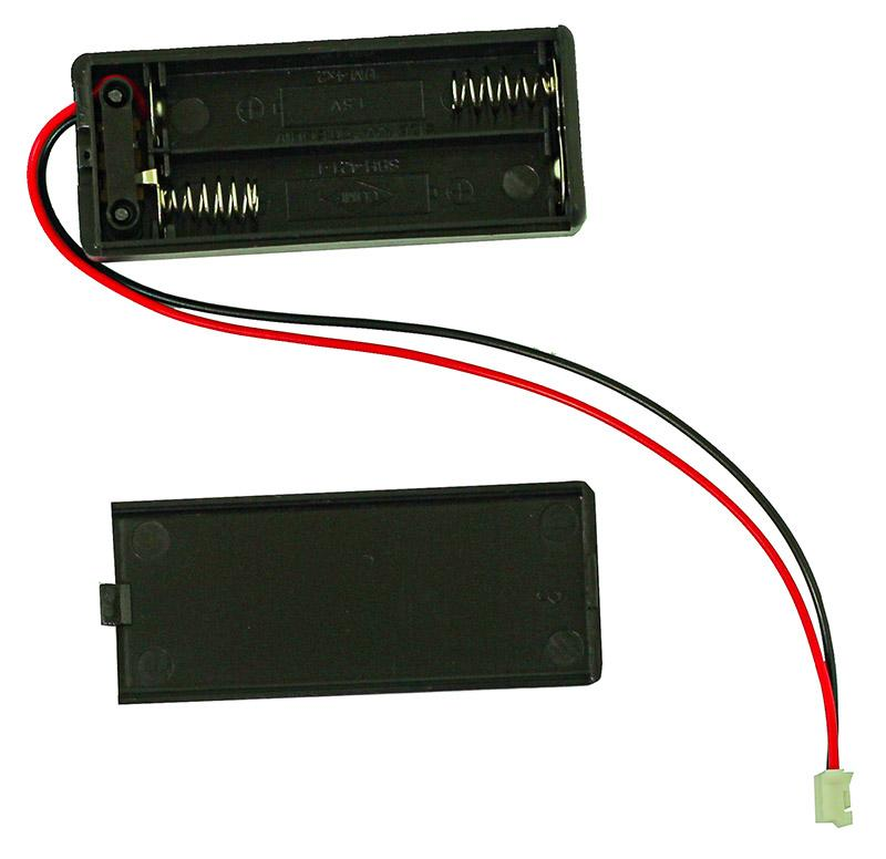 2x AAA Battery Box with Switch and JST Connector