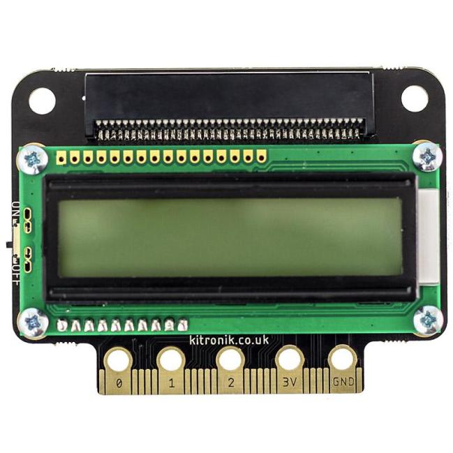 A product image for Kitronik :VIEW text32 LCD Screen for the BBC micro:bit