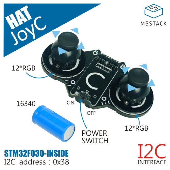 A product image for JoyC (W/O M5StickC) omni-directional controller