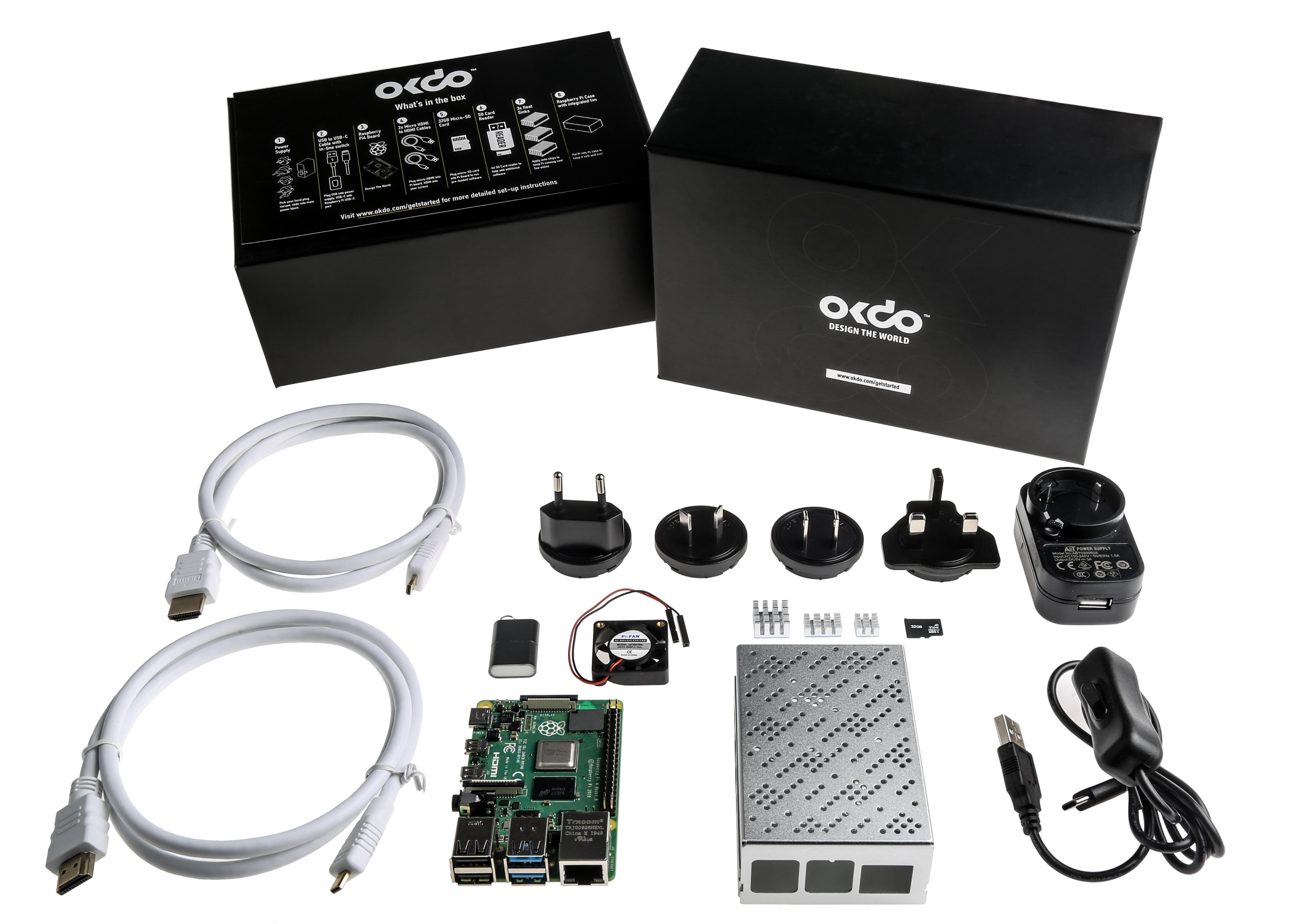 Okdo Raspberry Pi 4 8GB Modell B Starter Kit