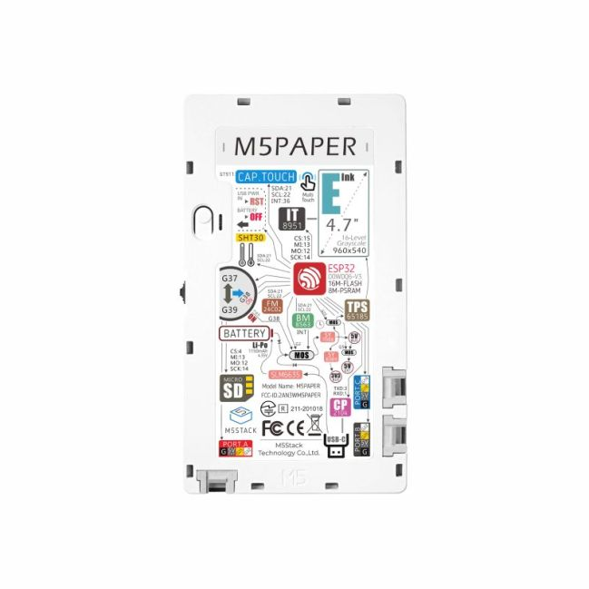 A product image for M5Paper ESP32 Development Kit (960X540, 4.7″ eInk display, 235 ppi)