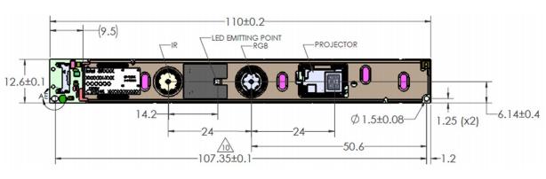 A product image for Intel Realsense Profondeur Module SR300