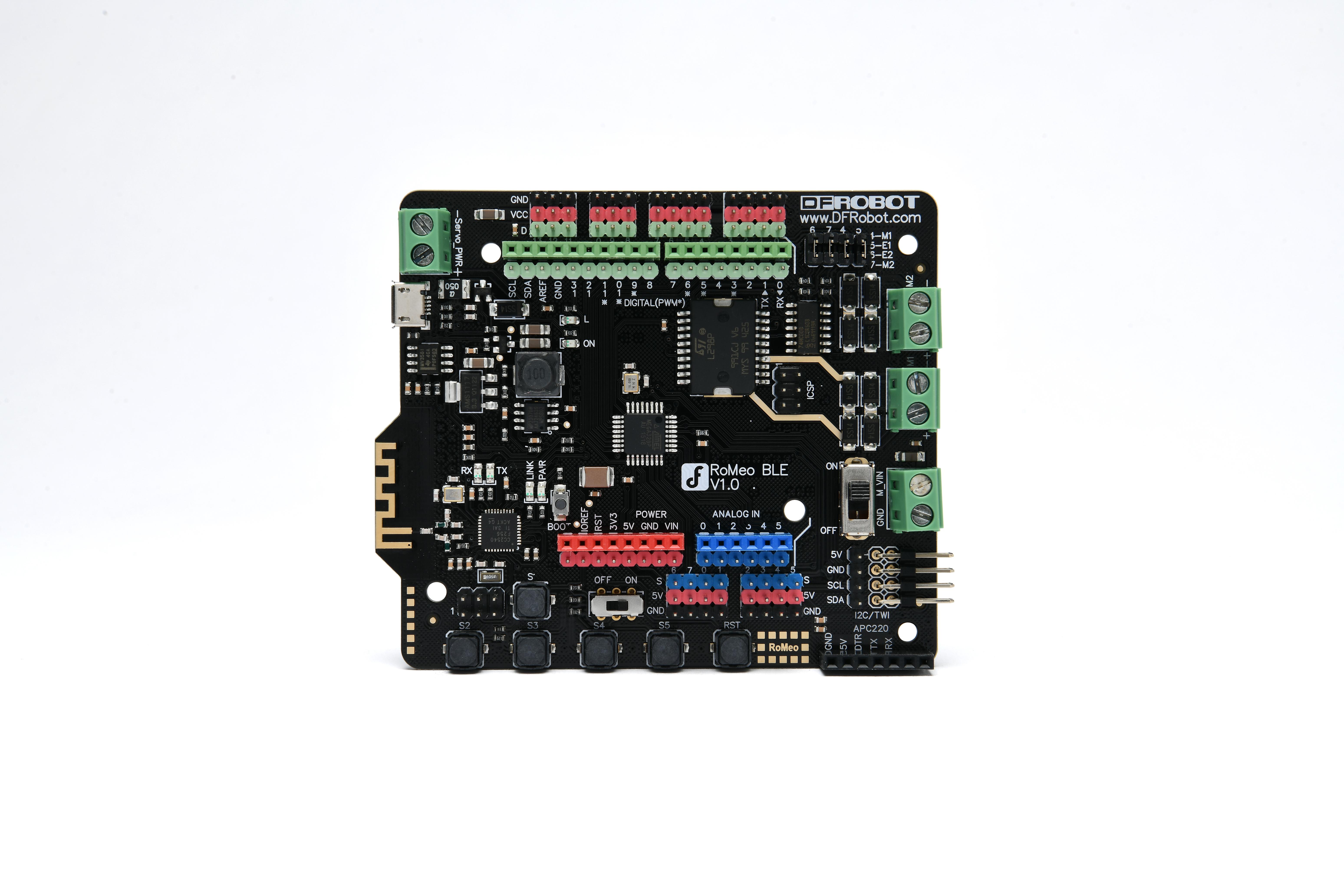 Carte de pilote moteur RomeoBLE Arduino