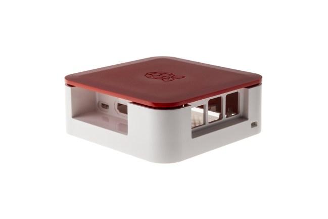 A product image for Boîtier Quattro avec Vesa – Blanc/Rouge