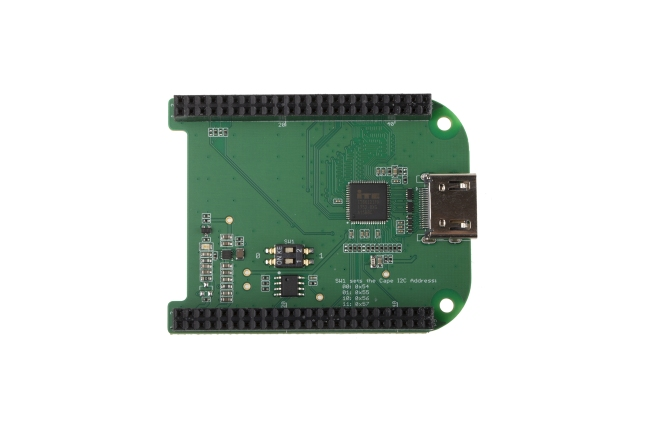 A product image for CAPE HDMI BEAGLEBONE VERT