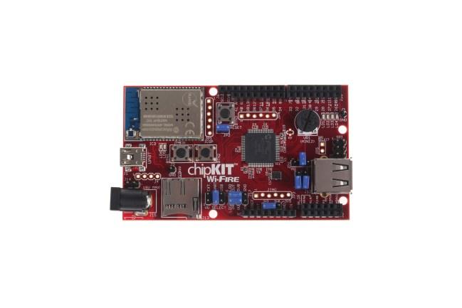 A product image for Carte de développement Wi-Fi chipKIT WF32