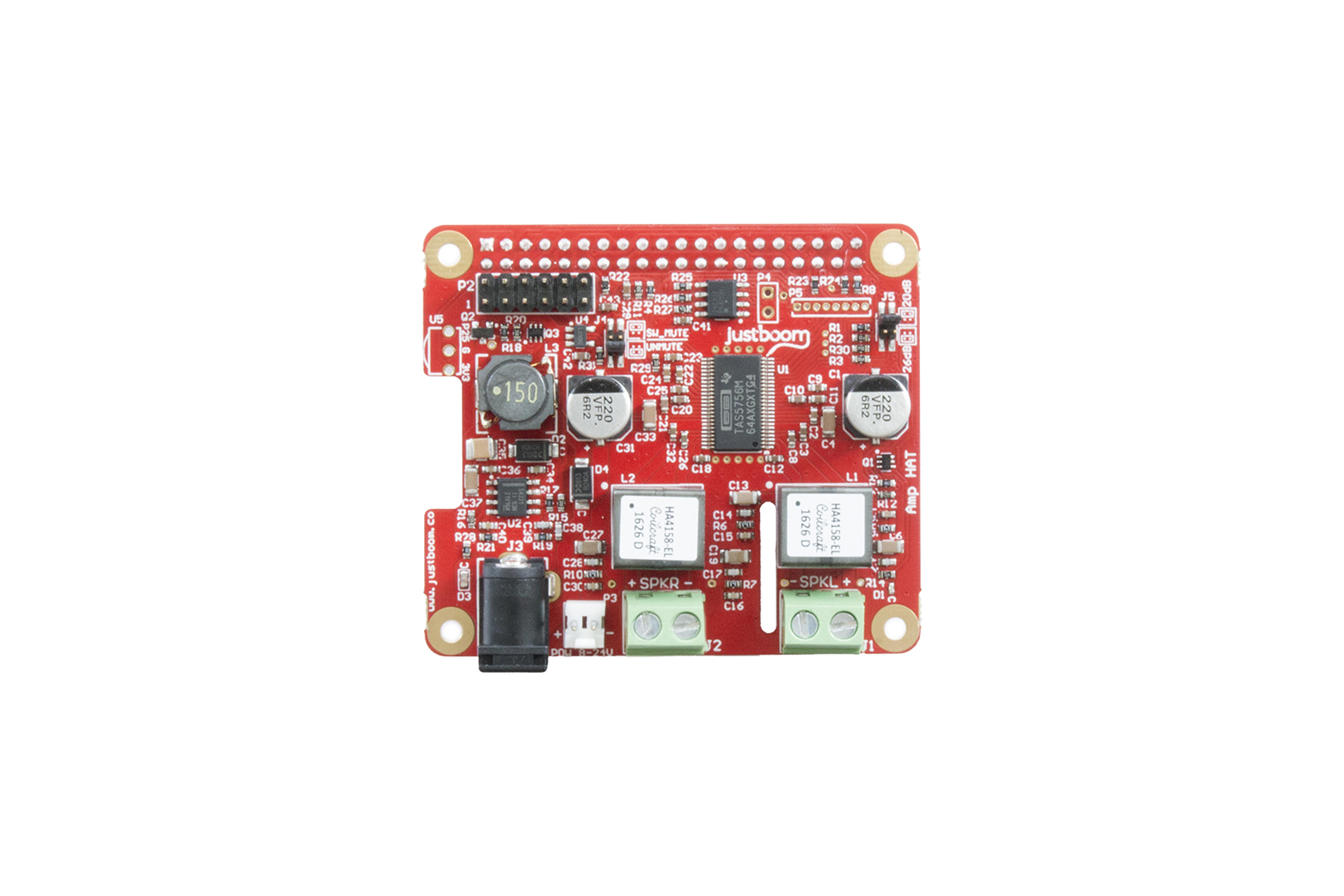 Chapeau justboom Amp pour Raspberry Pi