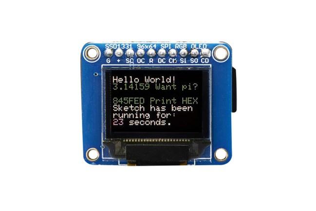 A product image for Écran OLED de circuit imprimé en couleurs