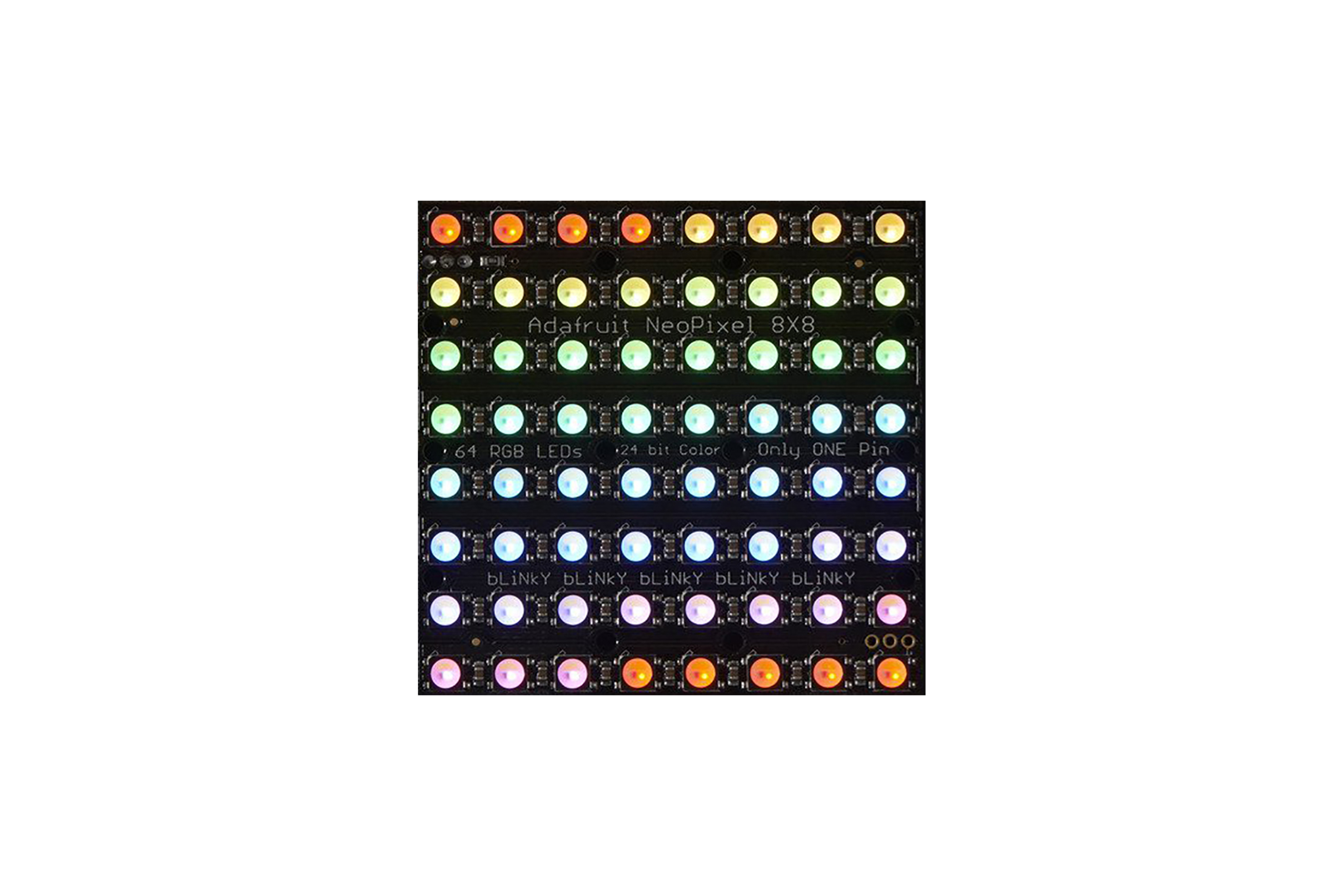 NEOPIXEL NEOMATRIX 64 RGBW LED 3000K