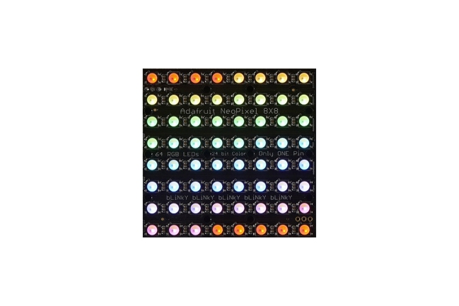 A product image for NEOPIXEL NEOMATRIX 64 RGBW LED 3000K