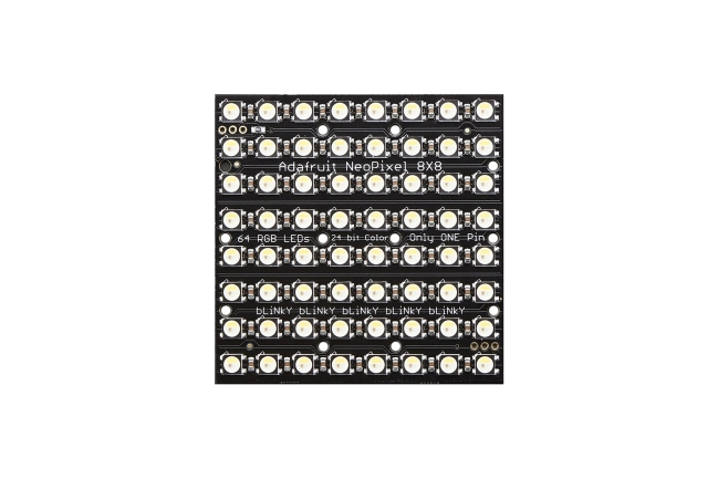 A product image for NEOPIXEL NEOMATRIX 64 RGBW LED 4500K