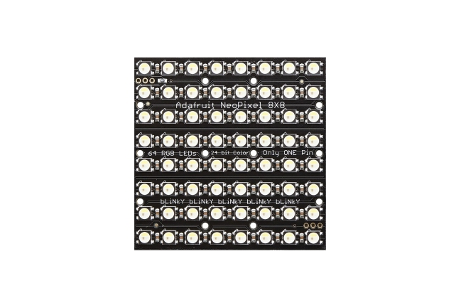 A product image for NEOPIXEL NEOMATRIX 64 RGBW LED 6000K