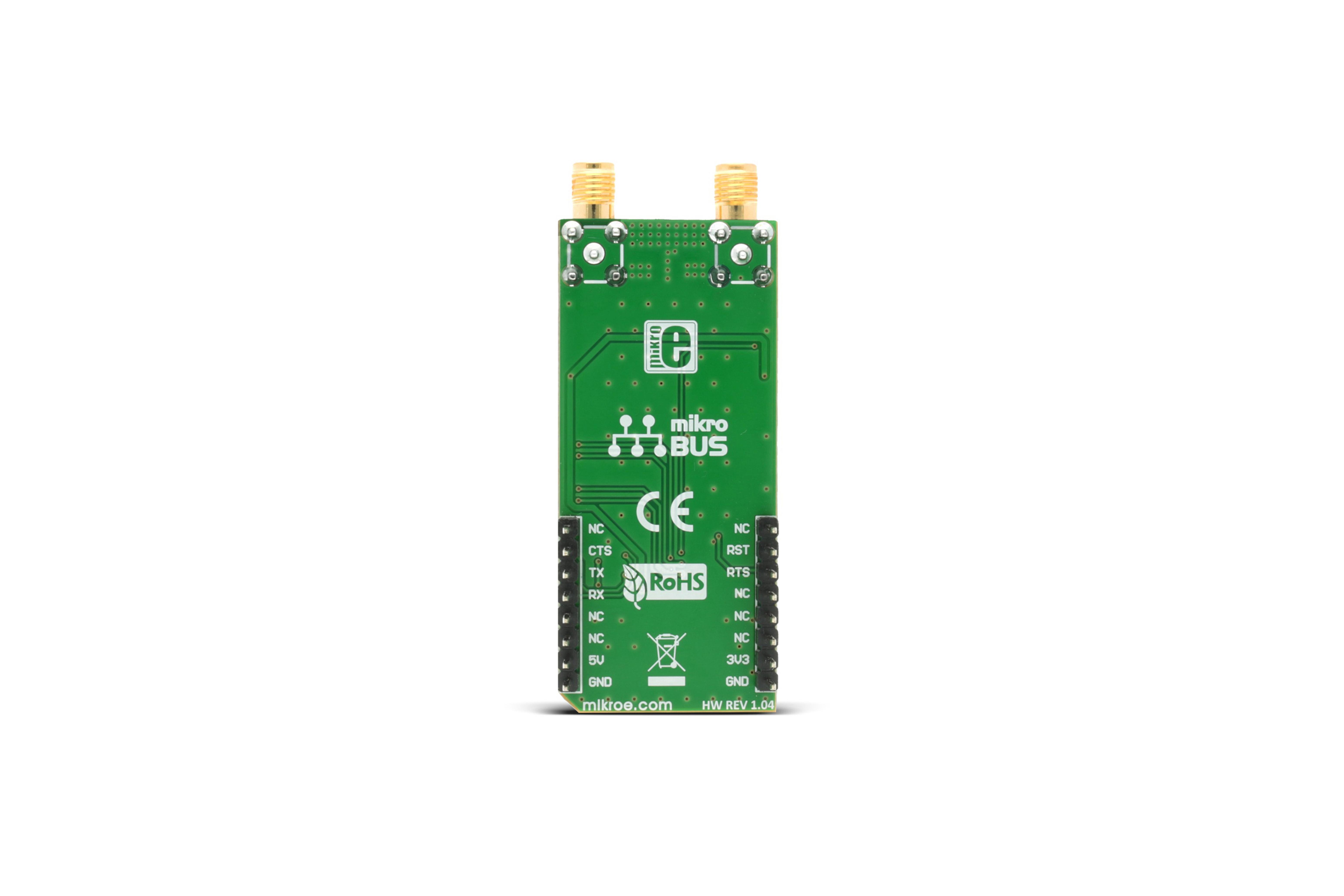 Carte émetteur-récepteur LoRaà clic 433/868MHz