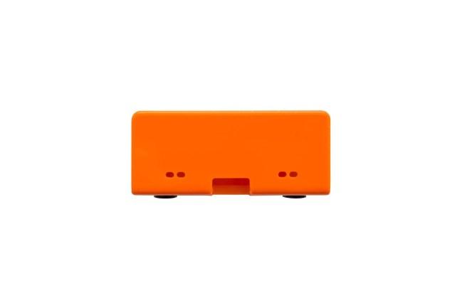 A product image for BOÎTIER HAT FLICK– ORANGE / BLANC