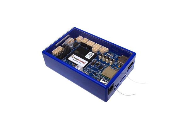 A product image for Boîtier bleu DesignSpark Beaglebone, Bleu/Transparent