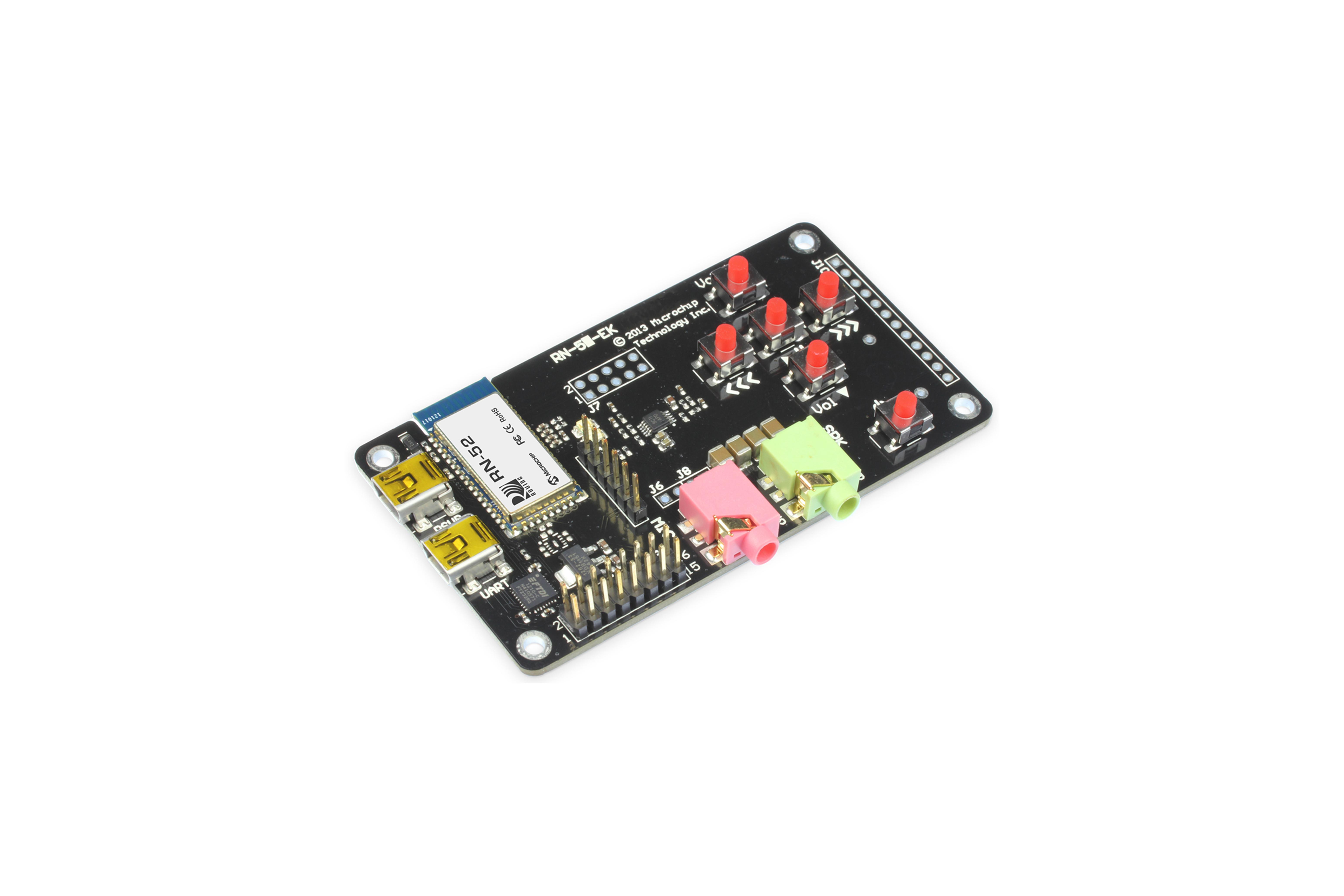 Carte d'évaluation audio RN52 Bluetooth