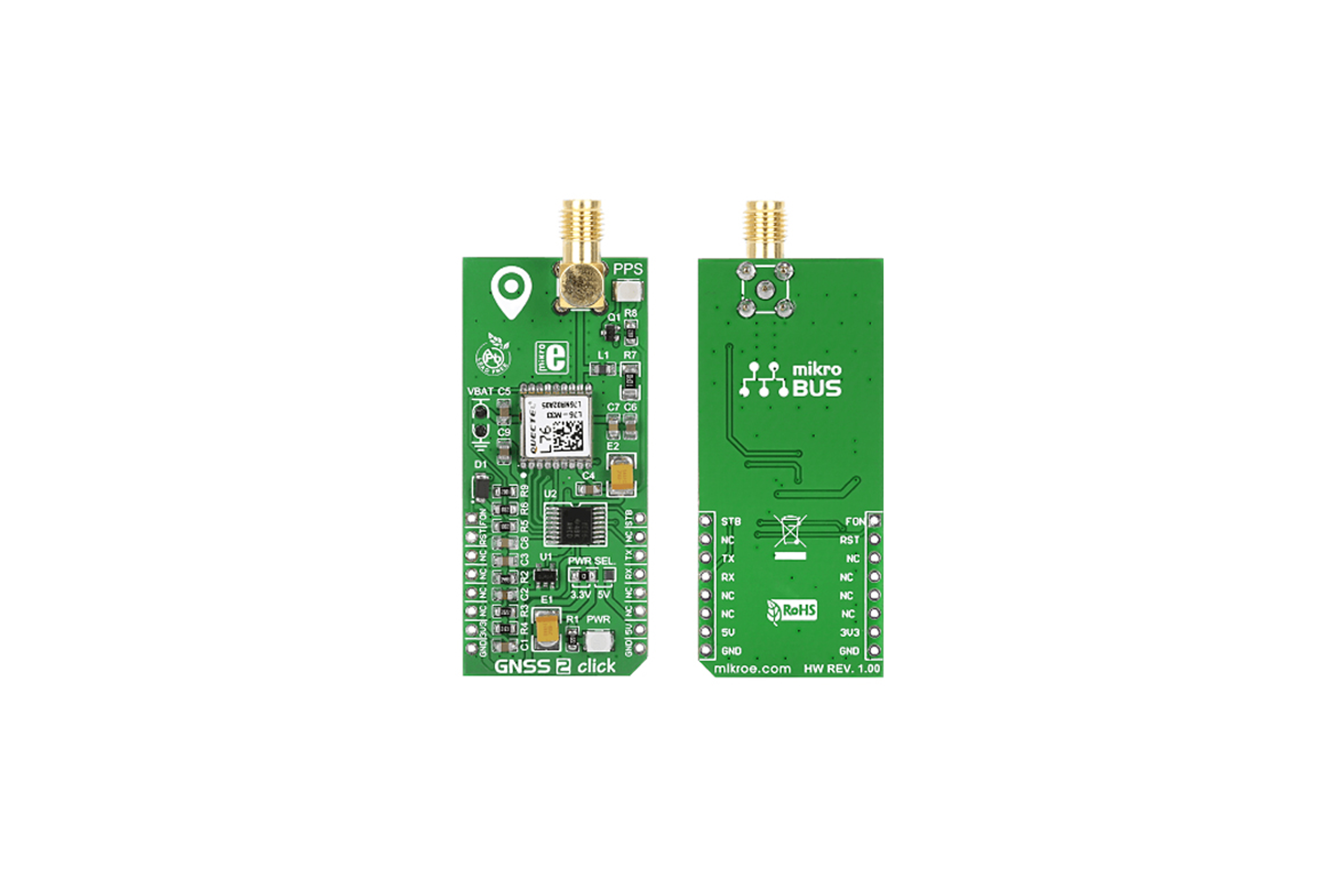 Carte à clic MikroBus GPS MikroElektronika GNSS2 pour L76