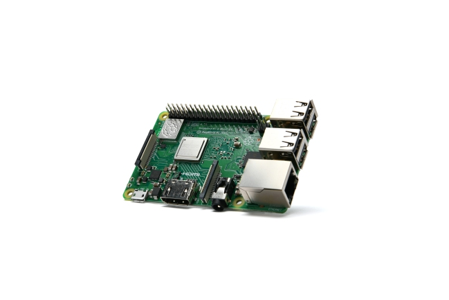 A product image for Raspberry Pi 3 Modèle B+